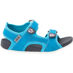 Jack Wolfskin Outfresh Deluxe Sandals Kids, blauw/grijs